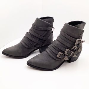 {Mi.iM} Fayth Buckled Western Inspired Ankle Boots